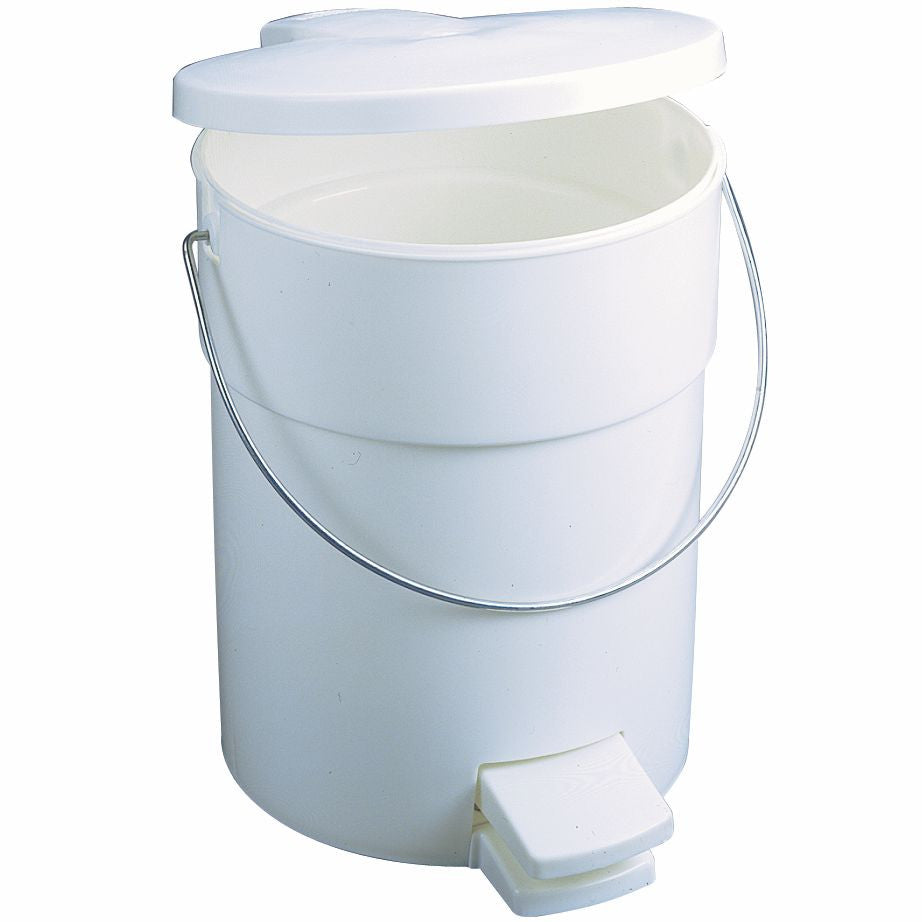 STEP ON CONTAINER 4½gal/17-lit WHITE
