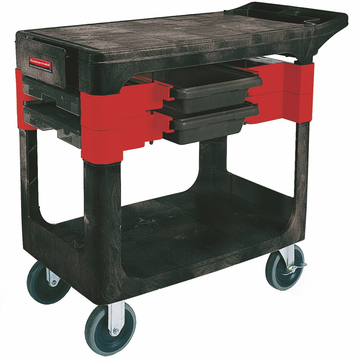 "TRADER CART W/6"" CASTERS BLACK"