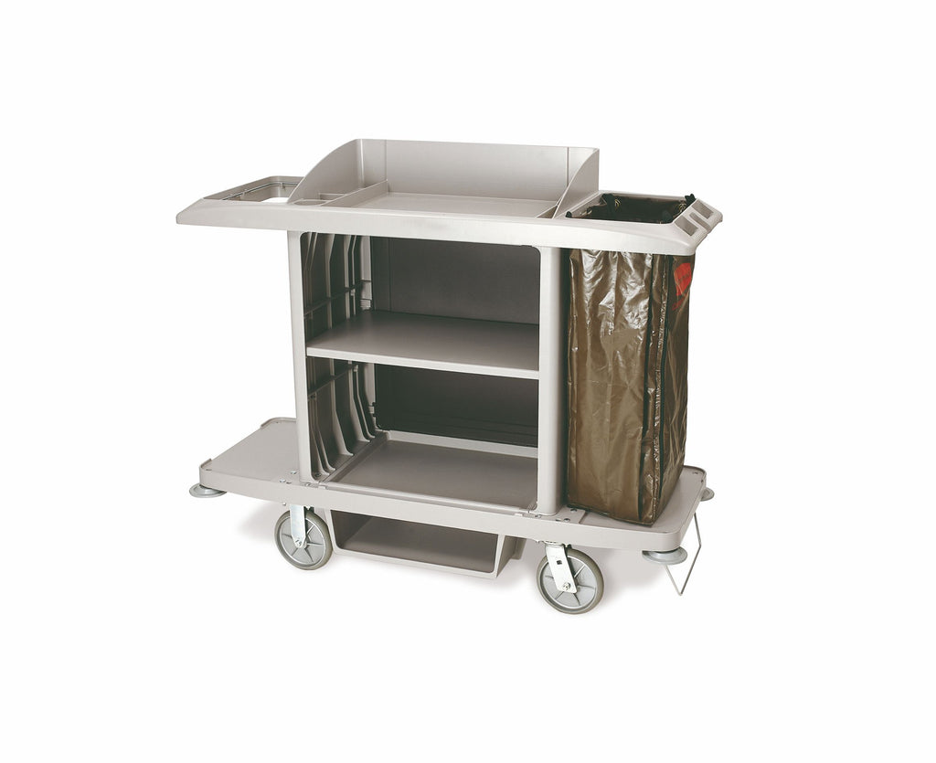 XTRA tm FULL SIZE  HOUSEKEEPING CART W/VINYL