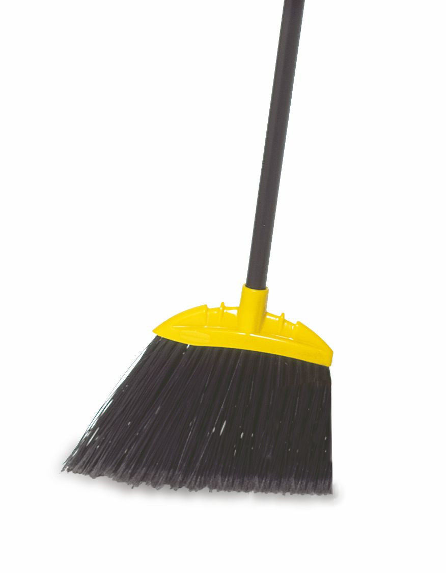 SWEEP ANGLE BROOM BLACK W/METAL HDL