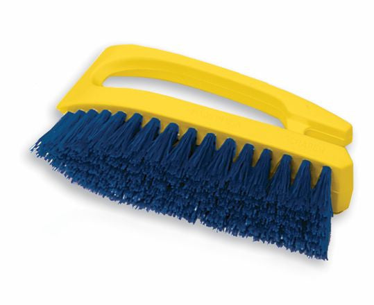 "6"" SCRUB BRUSH (yellow/blue)"