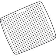 RUBBERMAID SAFTI-GRIP SHOWER MAT WHITE  56.4 x 56.4cm