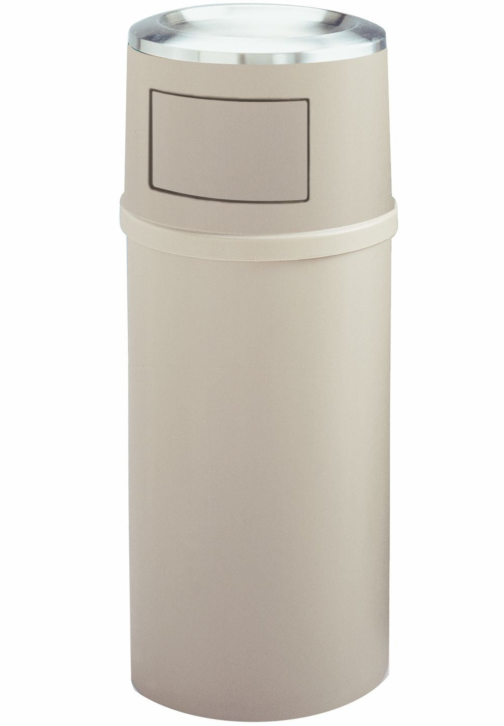 ASH/TRASH CONTAINER 25gal  W/DOOR BEIGE