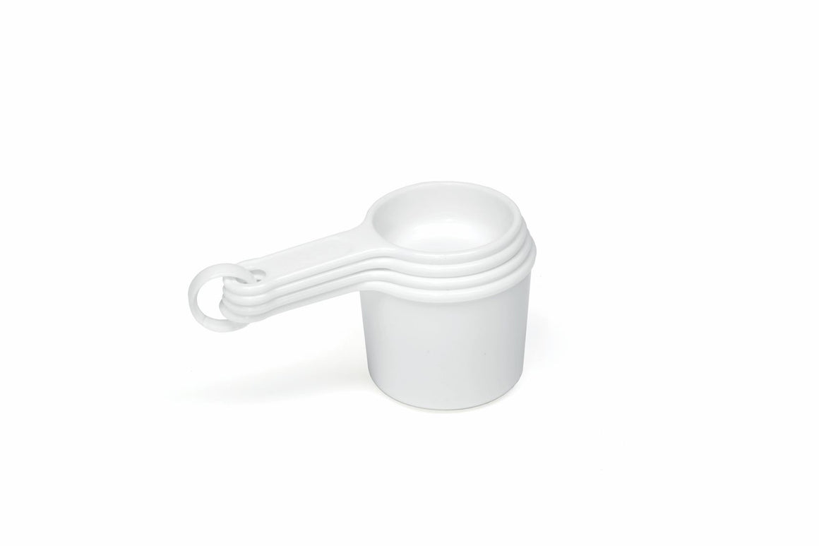 MEASURING CUP SET, ¼, 1/3, ½ & 1 CUP WHITE