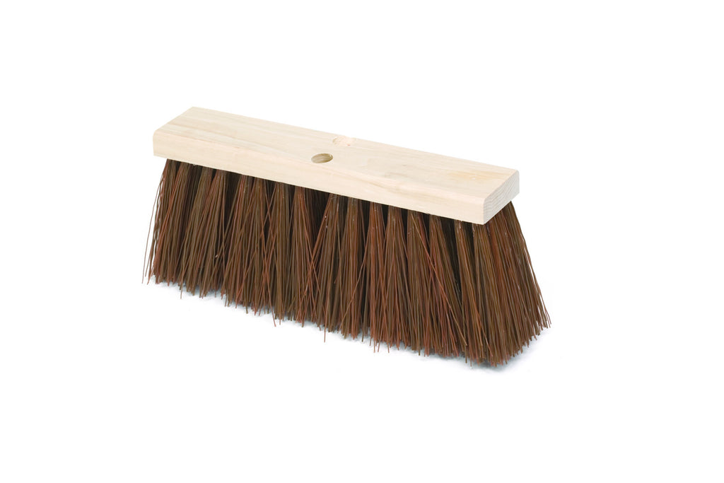 "16""STREET BROOM.HARDWOOD BLOCK,POLYPROPYLENE FILL"