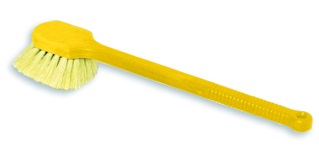 "20"" LONG PLASTIC HANDLE UTILITY BRUSH,TAMPICO FILL"