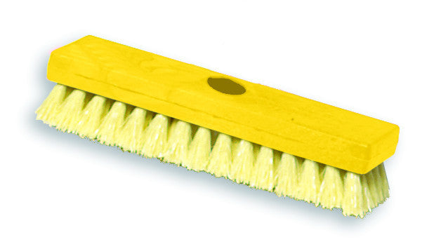"9"" DECK BRUSH YELLOW"