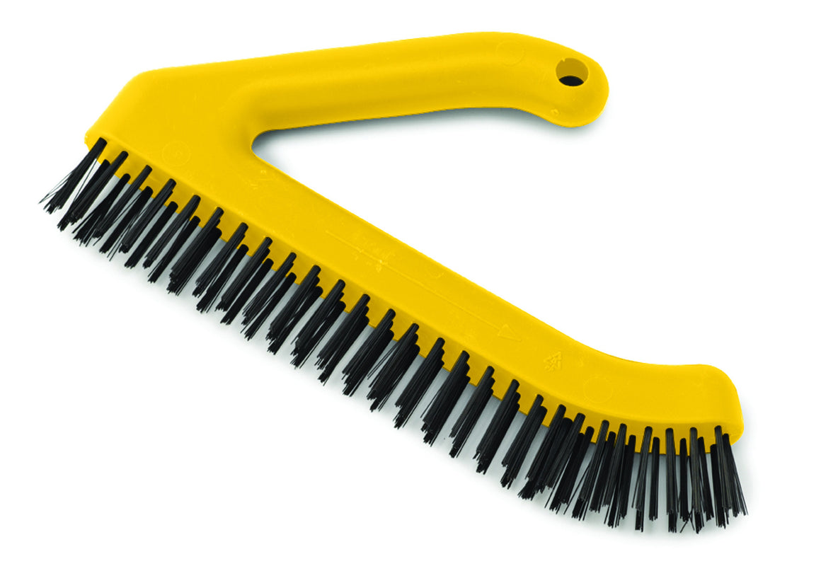 "11"" WIRE BRUSH PLASTIC ANGULAR HDL"