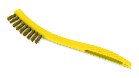"8½""TILE & GROUT BRUSH, BRASS BRISTLE"