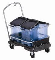 RUBBERMAID ICE ONLY CART BLACK
