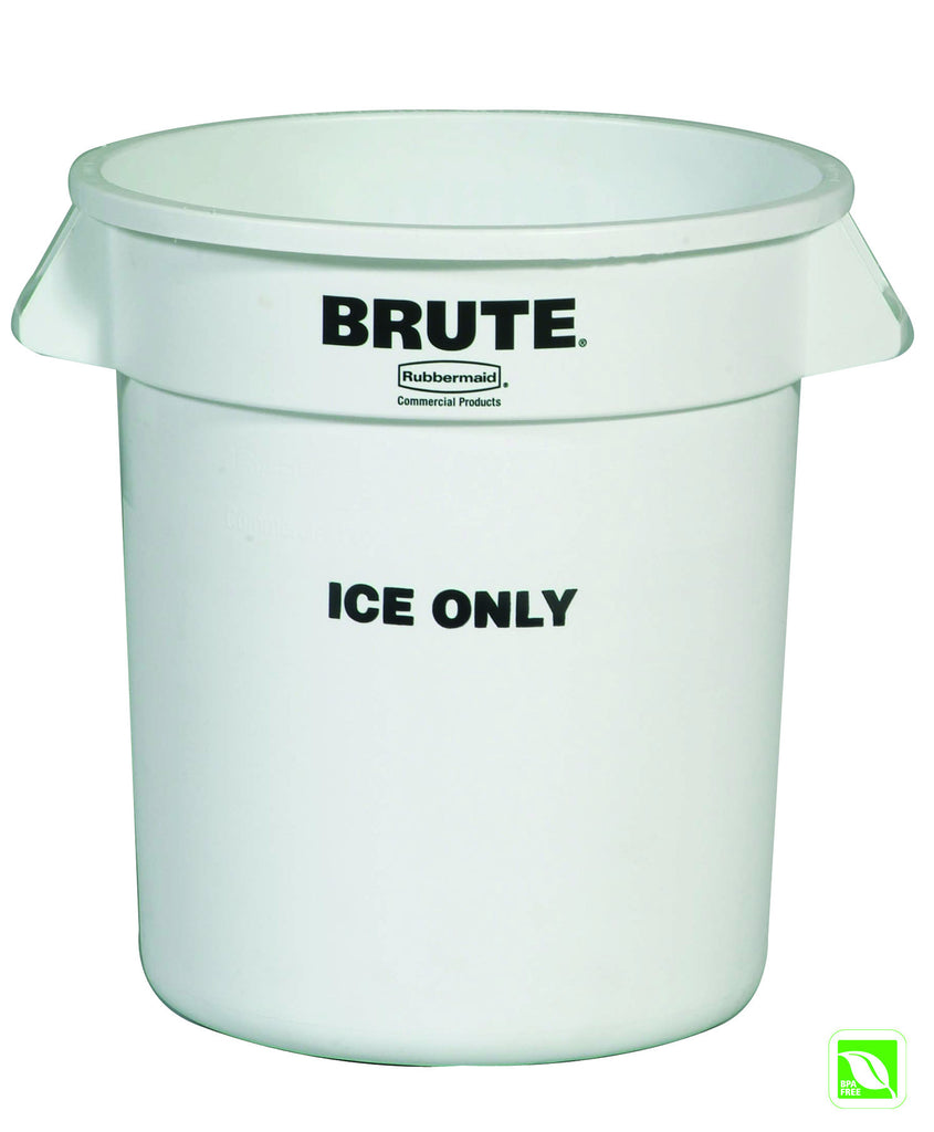 BRUTE ICE ONLY CONTAINER 10 gal W/O LID WHITE