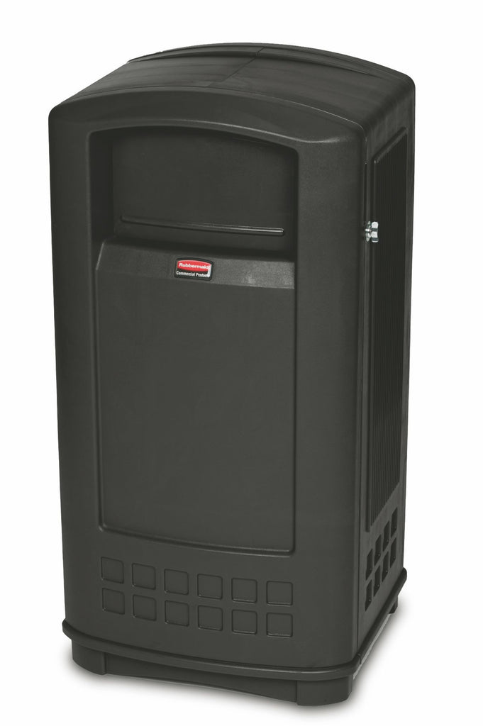 PLAZA JR. CONTAINER 54.4x51.6x104.3cm  35gal BLACK