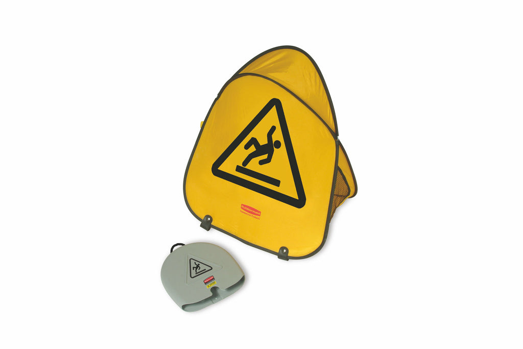 "FOLDING SAFETY CONE ""WET FLOOR"" SYMBOL"