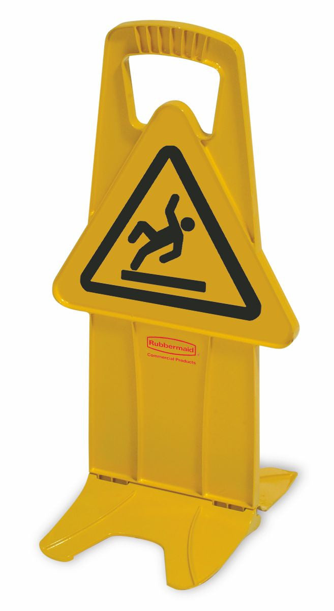 STABLE SAFETY SIGN W/INTERNATIONAL WET FLOOR SYMBOL