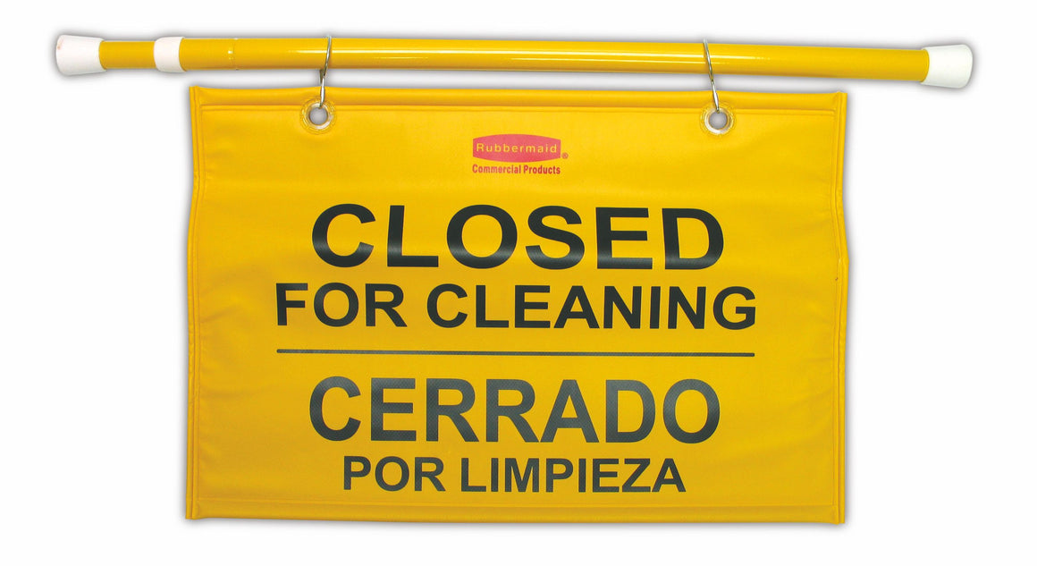 "SITE SAFETY HANGING SIGN-""CLOSED for CLEANING"""