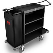 RUBBERMAID CRUISE HOUSEKEEPING CART BLACK