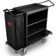 RUBBERMAID DELUXE HIGH CAPACITY HOUSEKEEPING CART BLACK*