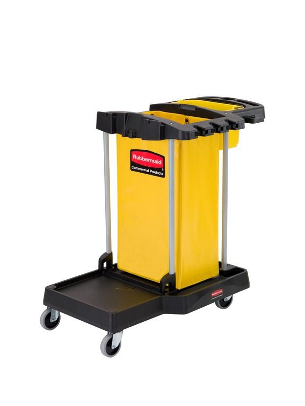 COMPACT CLEANING CART 105.2x56.5x96.7cm BLACK