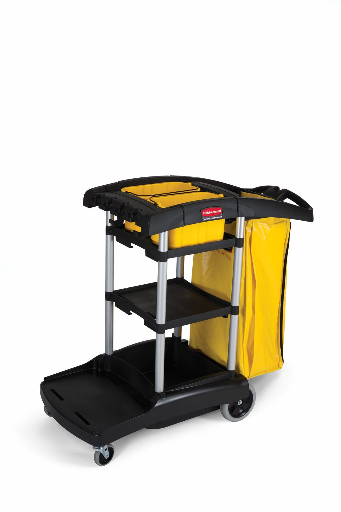 HIGH CAPACITY CLEANING CART BLACK