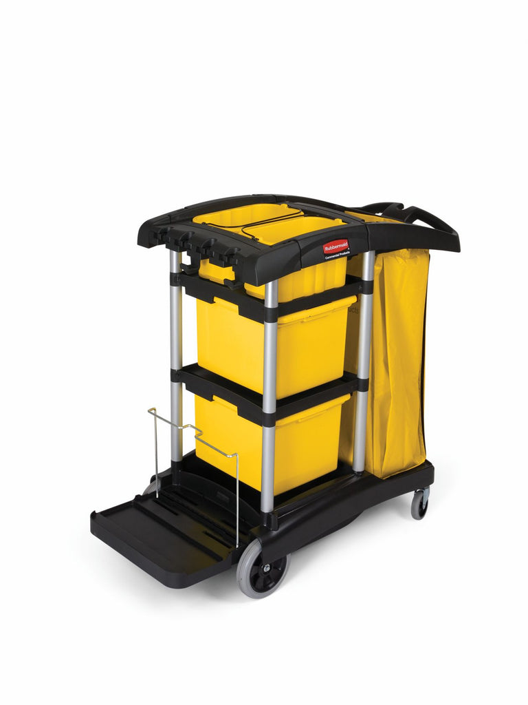 MICROFIBER CLEANING CART BLACK