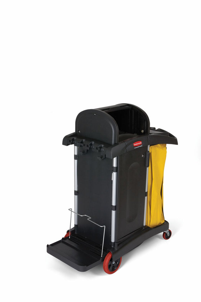 HIGH SECURITY CLEANING CART BLACK