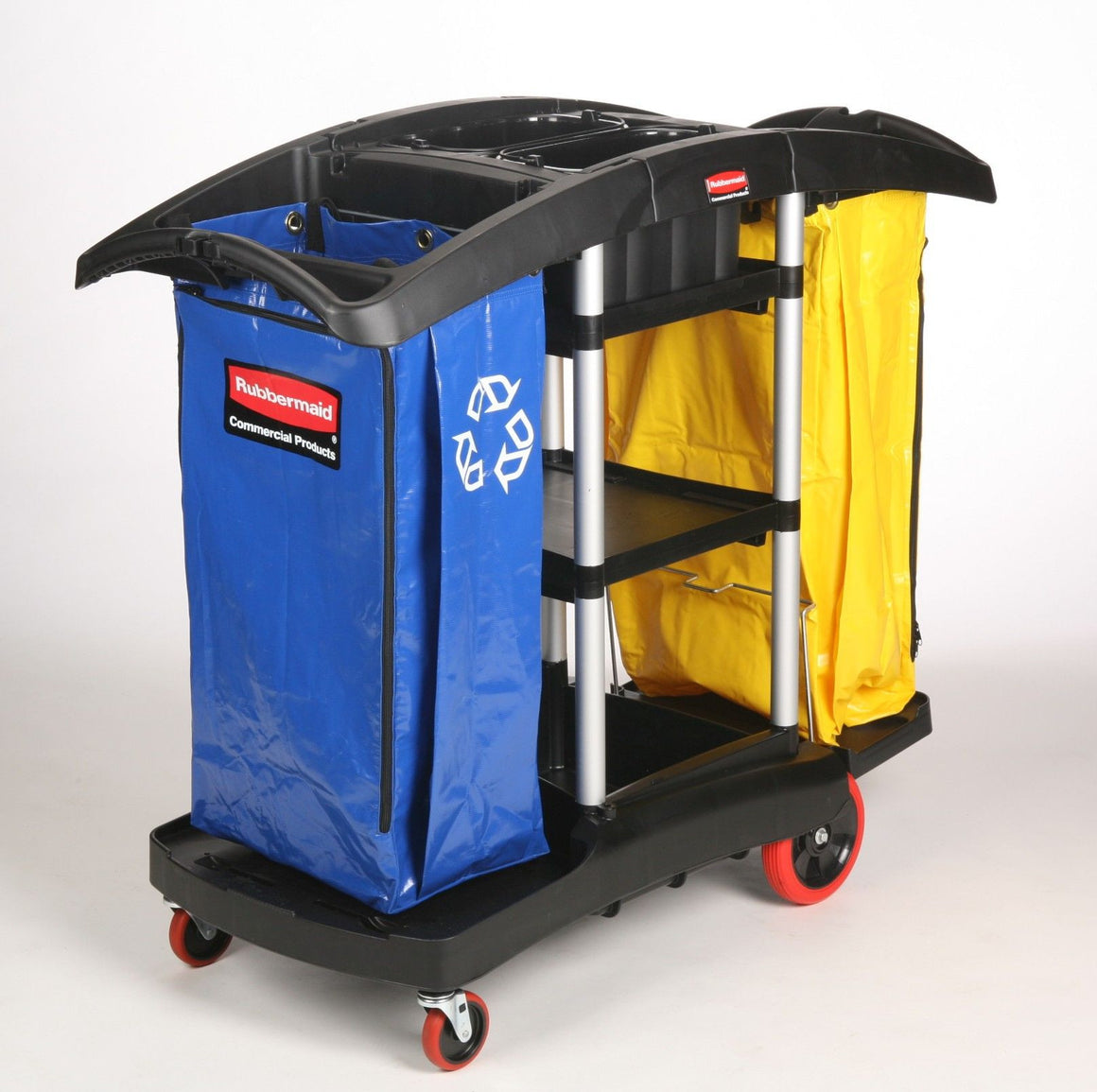 DOUBLE CAPACITY CLEANING CART  BLACK