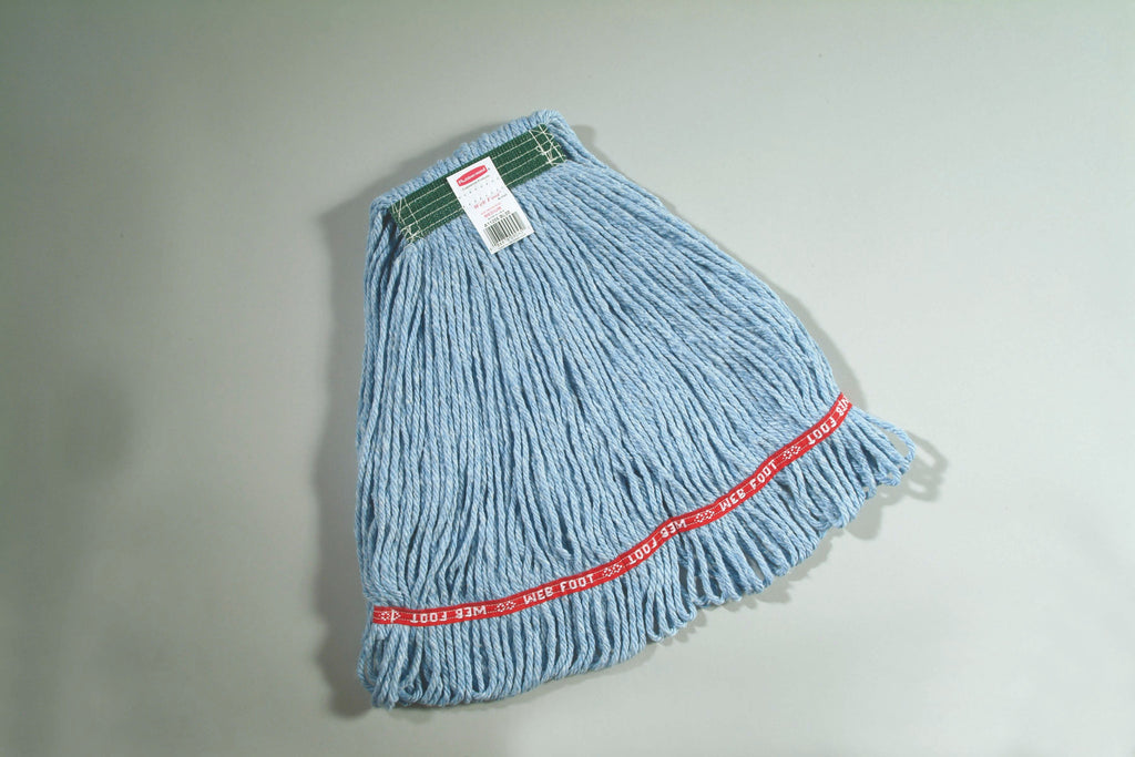 "WEB FOOT ANTIMICROBIAL MOP 1"" H/BAND BLUE"