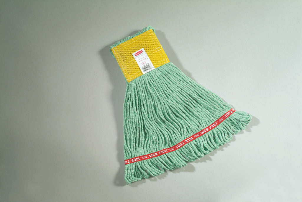 "WEB FOOT ANTIMICROBIAL MOP 5"" H/BAND GREEN"