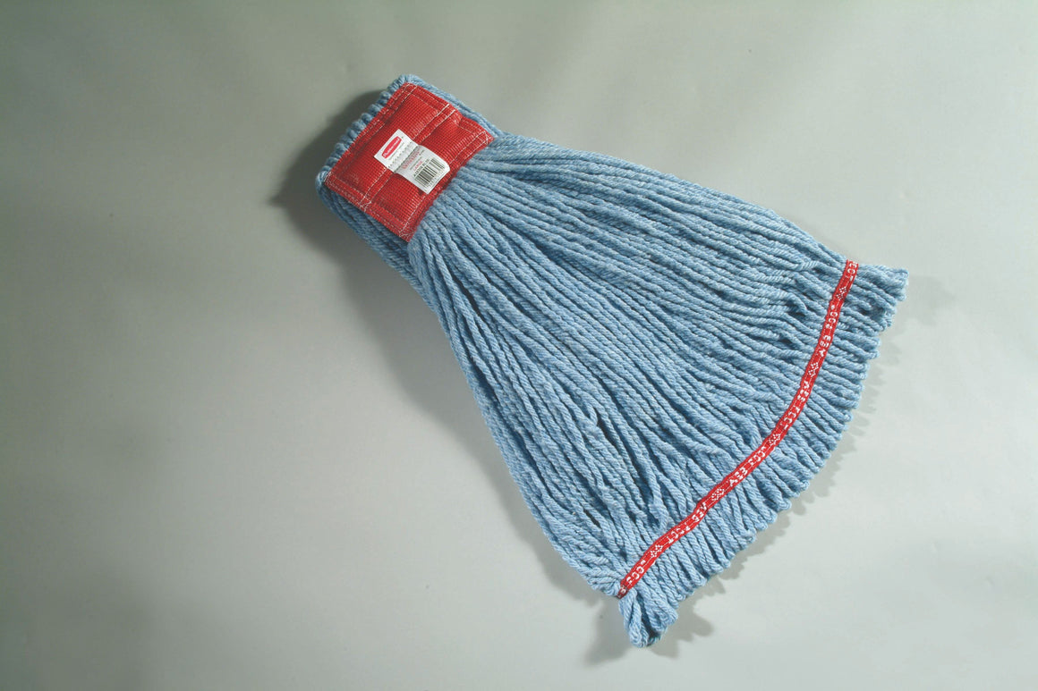 "WEB FOOT SHRINKLESS MOP (L) 5"" H/BAND BLUE"