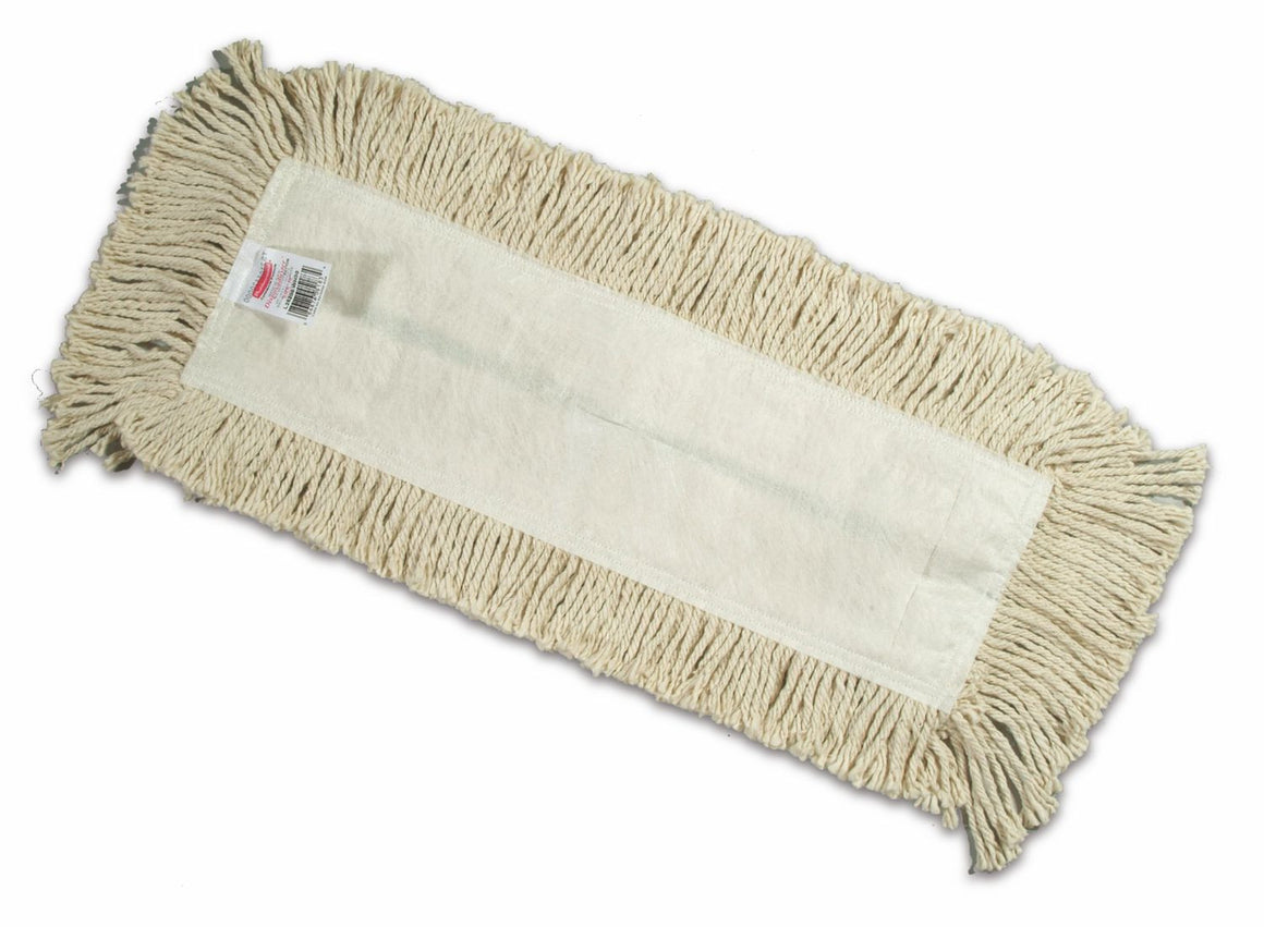 "END CUT DISPOSABLE COTTON DUST MOP 18""x5"""