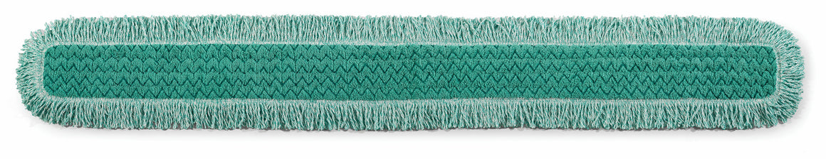 "60"" MICROFIBER FRINGED DUST MOP 64""x9""x0.5"" GREEN"