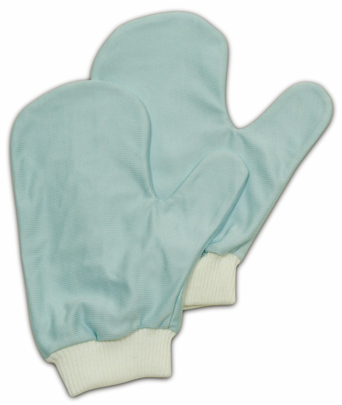 MICROFIBER GLASS MITT W/THUMB 8¾ L-BLUE