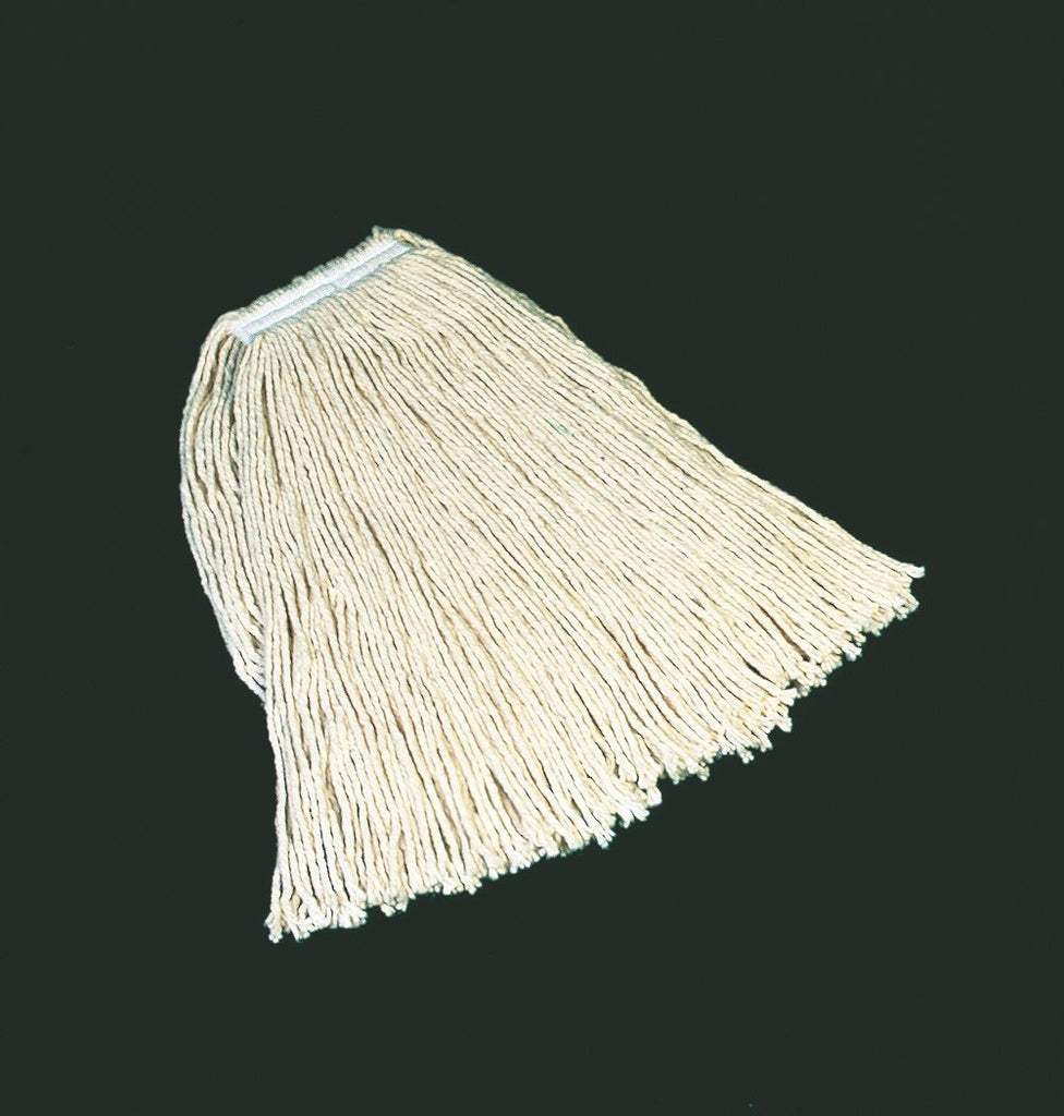 "24 COTTON 4 PLY CUT MOP W/1"" HEAD BRAND"