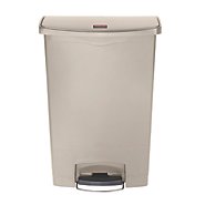 RUBBERMAID SLIM JIM® RESIN FRONT STEP BIN BEIGE