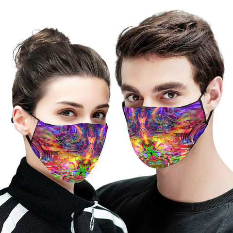 Abstract Version 1 Face Mask