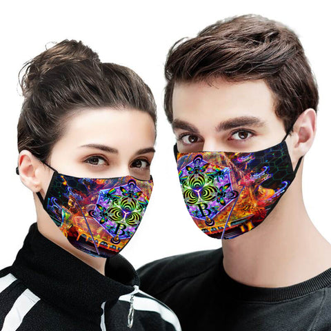 Bass Hive Face Mask