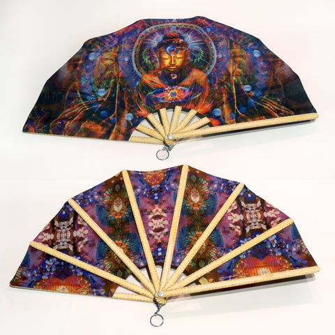 Double-sided Hand Fan - Buddha