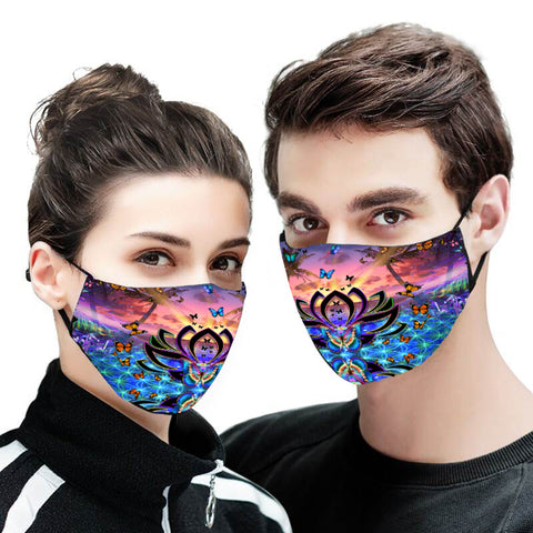 Butterfly Lotus Facemask
