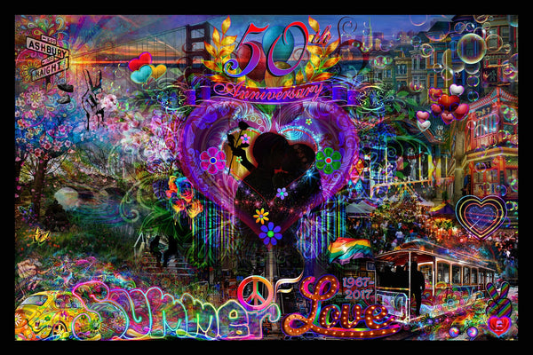 Summer of Love 50th Anniversary Tapestry