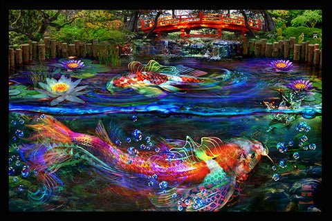 Koi Fish Tapestry