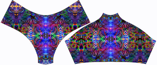 Abstract Remix Booty Shorts