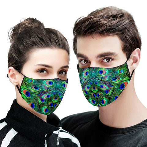 Peacock Face Mask