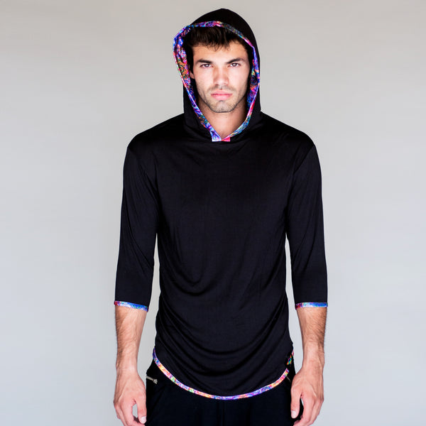 Men's Hooded Shirt - Abstract