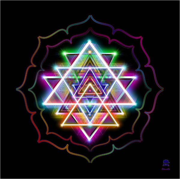Shri Yantra Tapestry Version 1