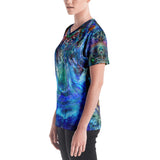Women's V-Neck T-Shirt - Rán the Water Goddess (Elemental Series)
