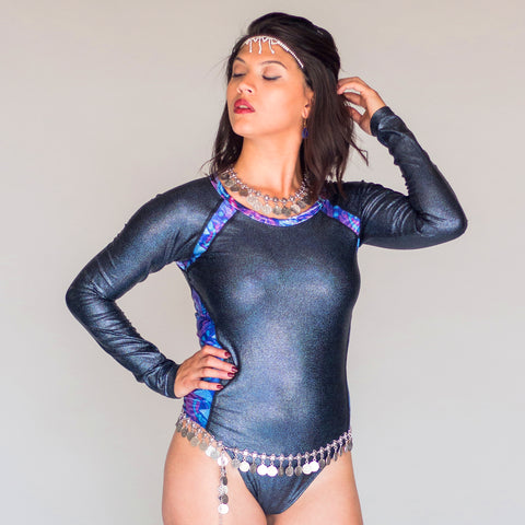 Midnight Rainbow Bodysuit - Padma