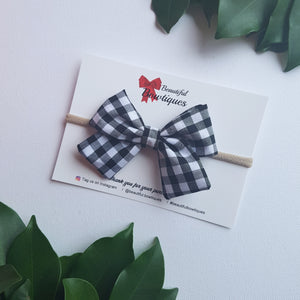 Sadie bow - Black gingham