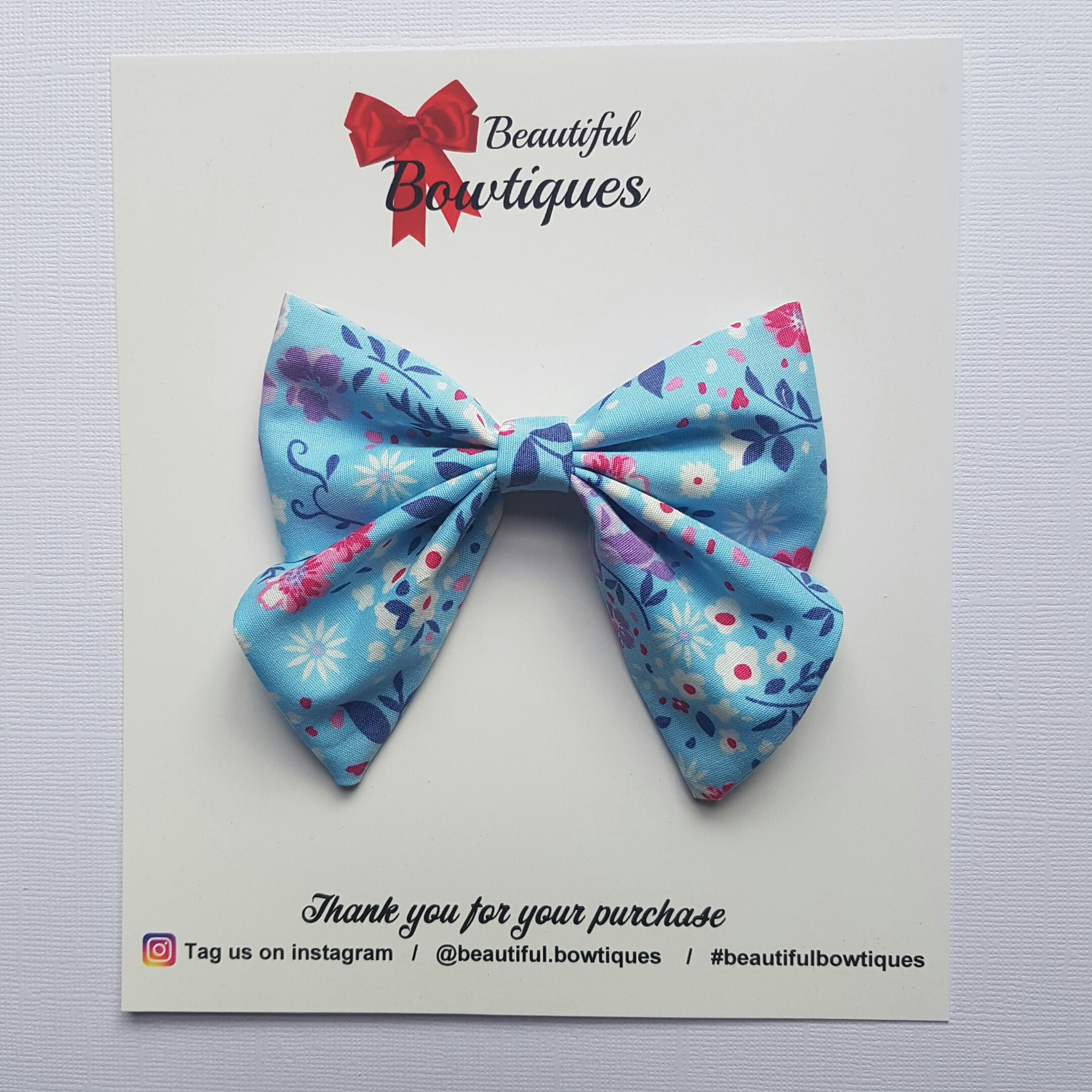 Sailor Bow - Blue floral