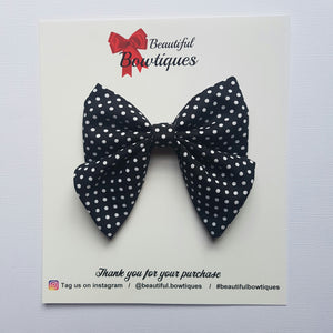 Sailor Bow - Black polkadot