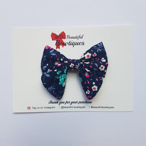 Sailor Bow Mini - Navy floral
